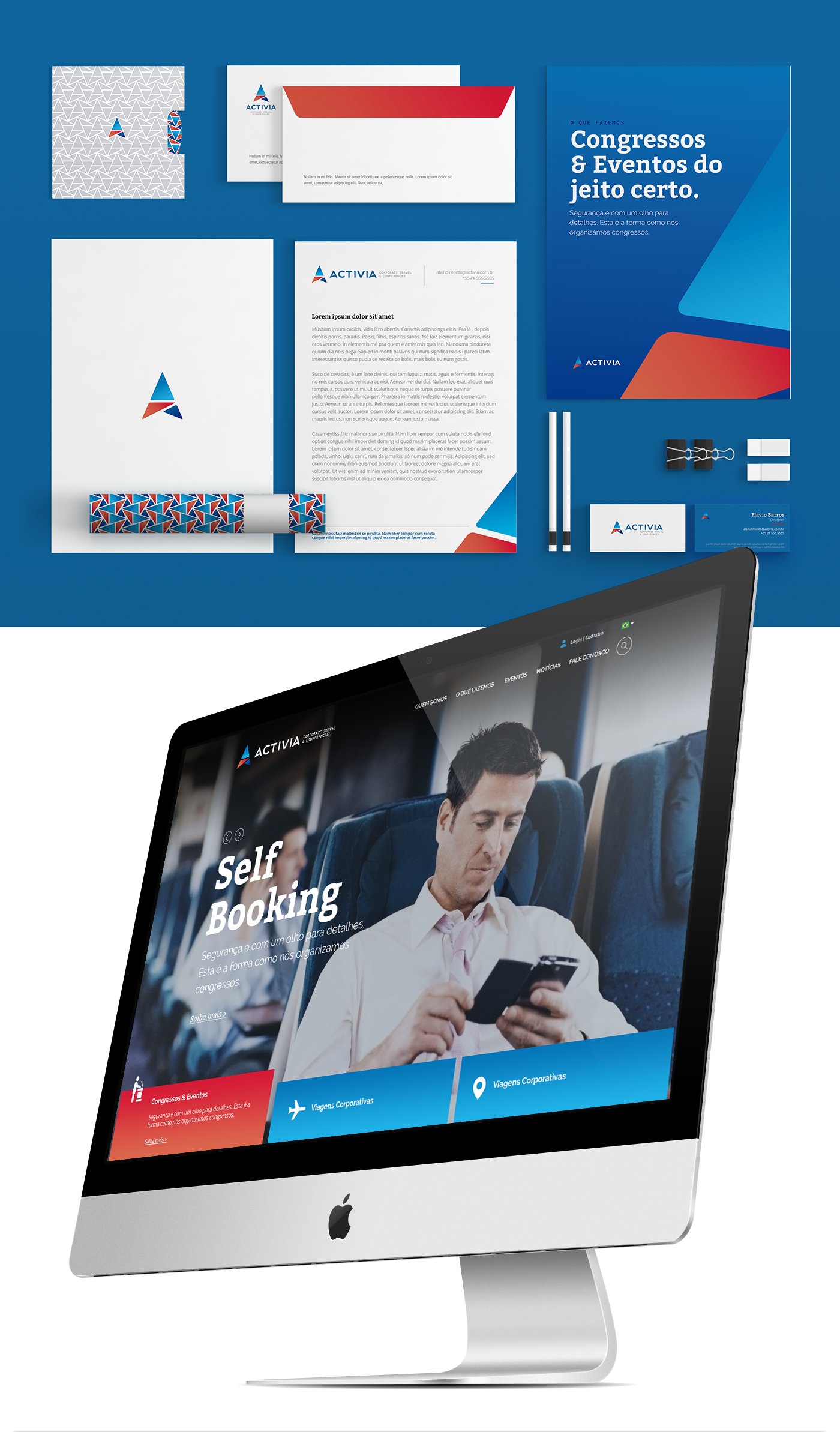 Identidade Corporativa | Activia Conferences & Corporate Travel - Desenvolvimento Drupal - Layout Responsivo